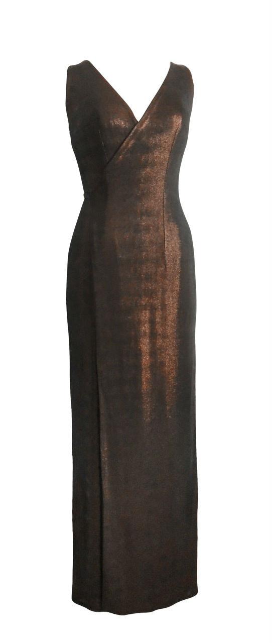 robe portefeuilles dorée