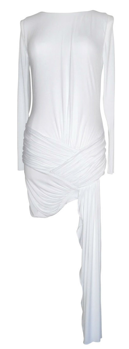 robe blanche jersey